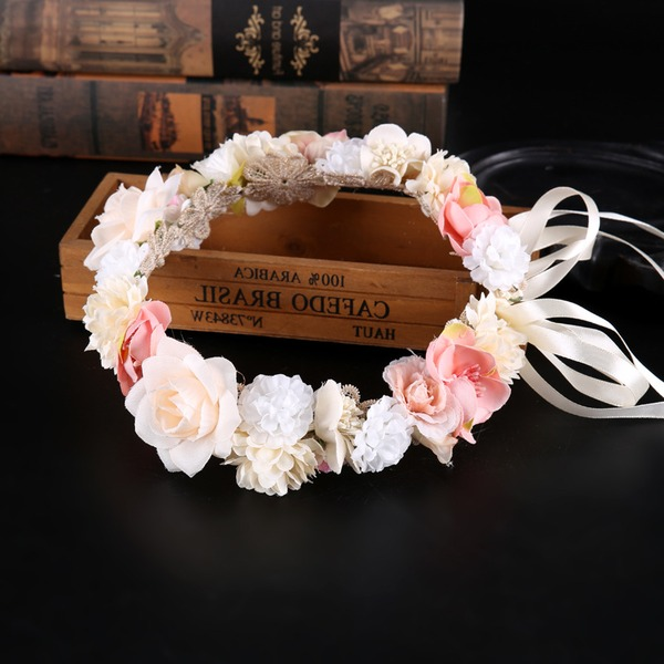 Ladies Classic Silk Flower Headbands