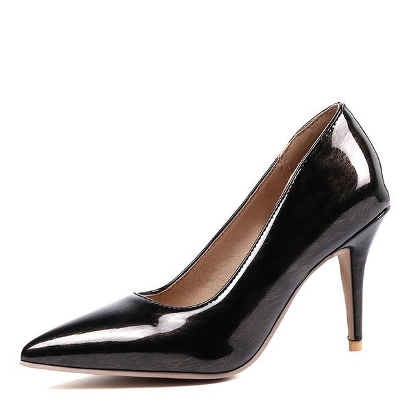 Kadın Rugan İnce Topuk Pompalar ayakkabı