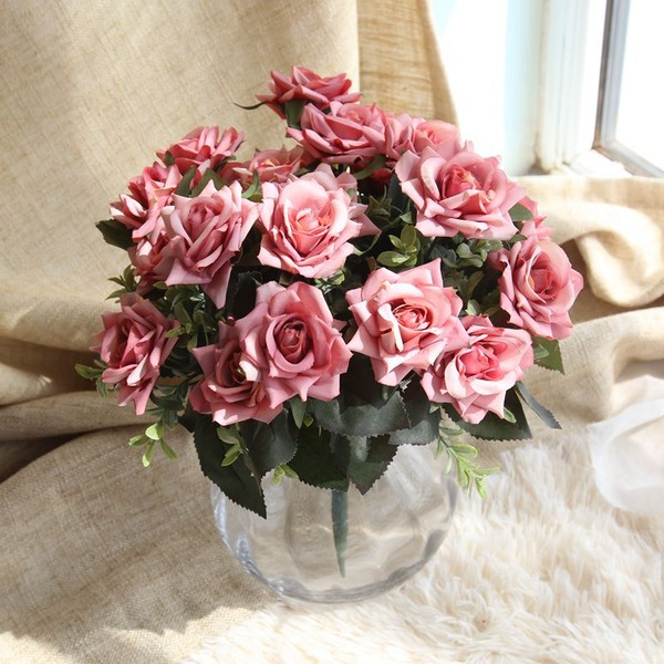 Free-Form Silk Bridal Bouquets/Decorations (Sold in a single piece) -
