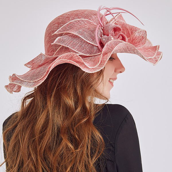 Ladies ' Charmen/Fancy Linned med Blomst Strand / Sun Hatte/Kentucky Derby Hatte/Tea Party Hats