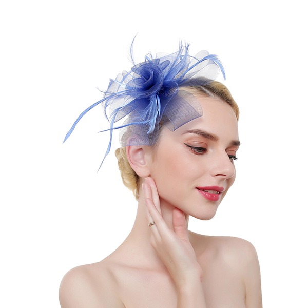 Dames Elegant/Het oog Springende/Charme Feather/Netto garen met Feather Fascinators