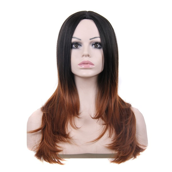 High temperature Straight Long Layered Synthetic Wigs