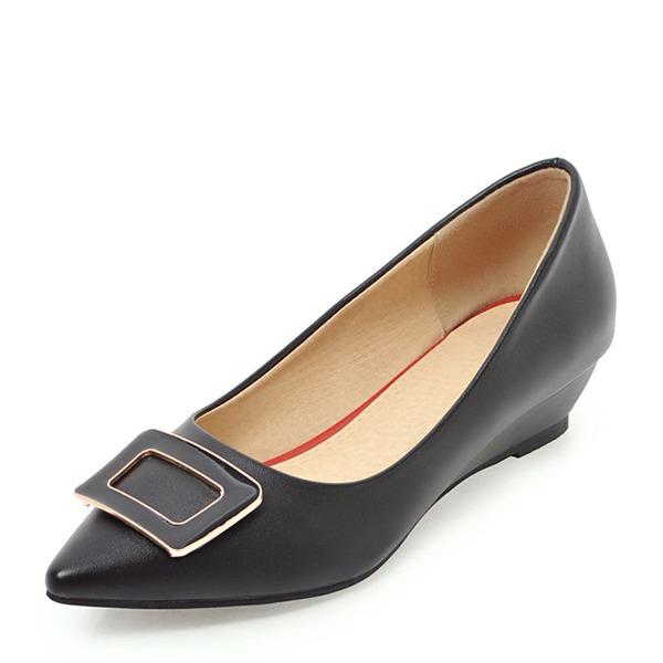 Kvinnor PVC Kilklack Kilar med Spänne skor