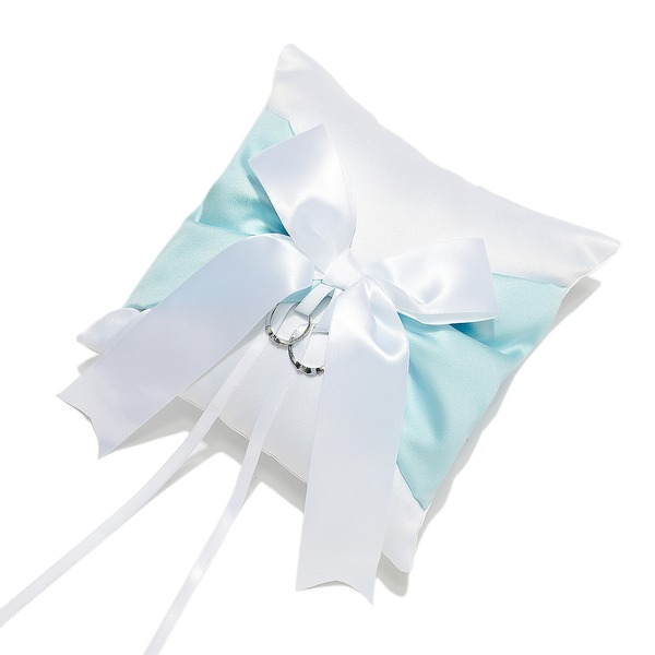 Grace Ring Pillow in Satin With Sash/Bow