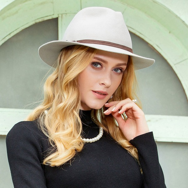 Ladies' Eye-catching Wool Floppy Hat