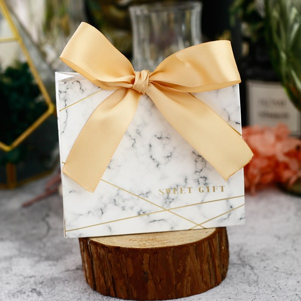 Forever Love Other Card Paper Favor Boxes With Ribbons (Set of 30)