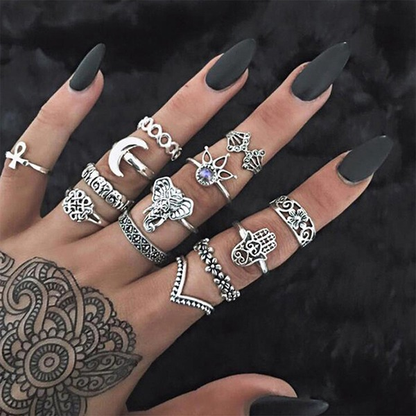 Fashional Alloy Acrylic With Acrylic Women's Fashion Rings