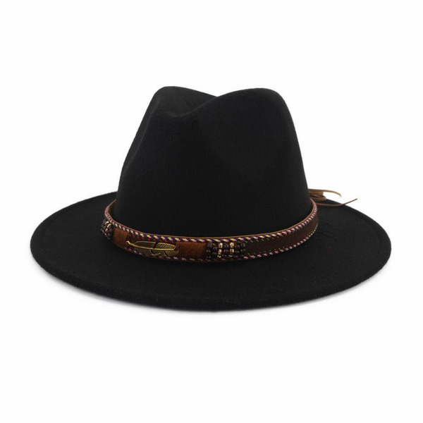 Men's Classic/Simple Wool Blend Fedora Hats