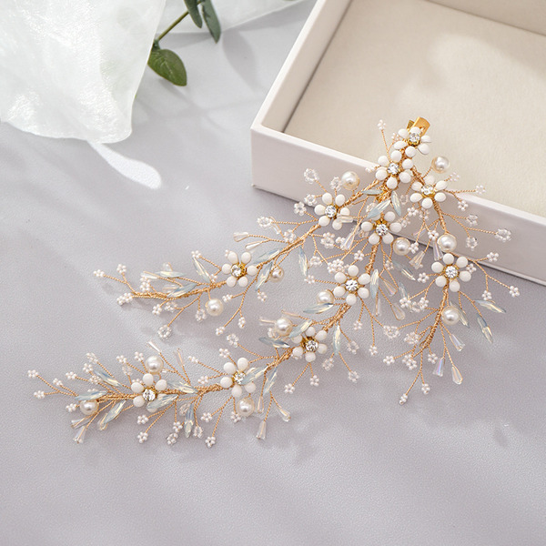 Ladies Artistic Rhinestone/Alloy/Pearls Hairpins (Sold in single piece)