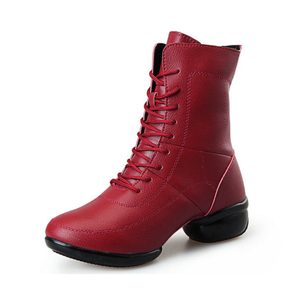 Women's Real Leather Sneakers Dance Boots Dance Shoes