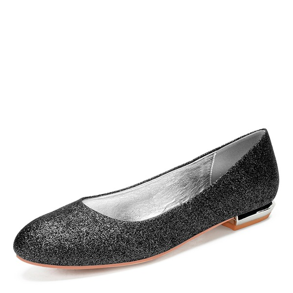 Women's Sparkling Glitter Flat Heel Closed Toe With Sequin Sparkling Glitter