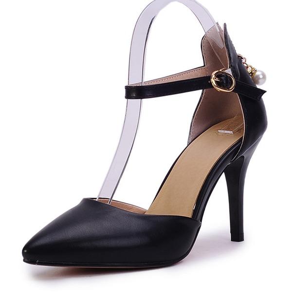 De mujer Cuero Tacón stilettos Salón Cerrados con Cremallera zapatos