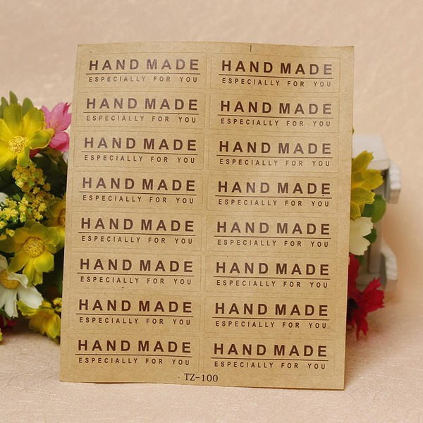 HAND MADE Stickers Bakery Stickers Sealing Labels (Set of 20)