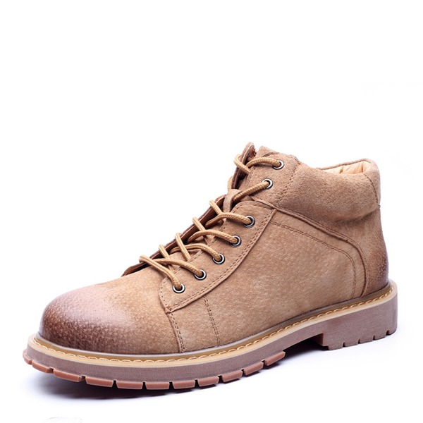 Men's Real Leather Snow Boats Casual Men's Boots