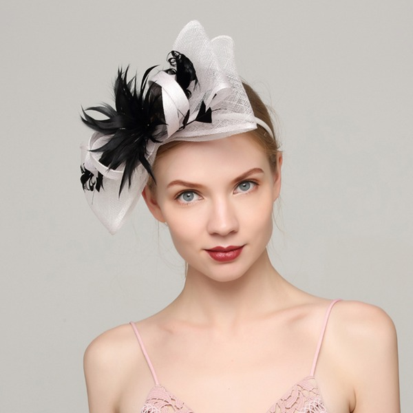 Dames Style Classique Batiste/Feather avec Feather Chapeaux de type fascinator