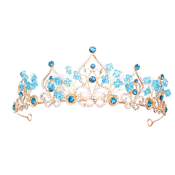 Ladies Eye-catching Rhinestone/Alloy/Pearls Tiaras (Sold in single piece)