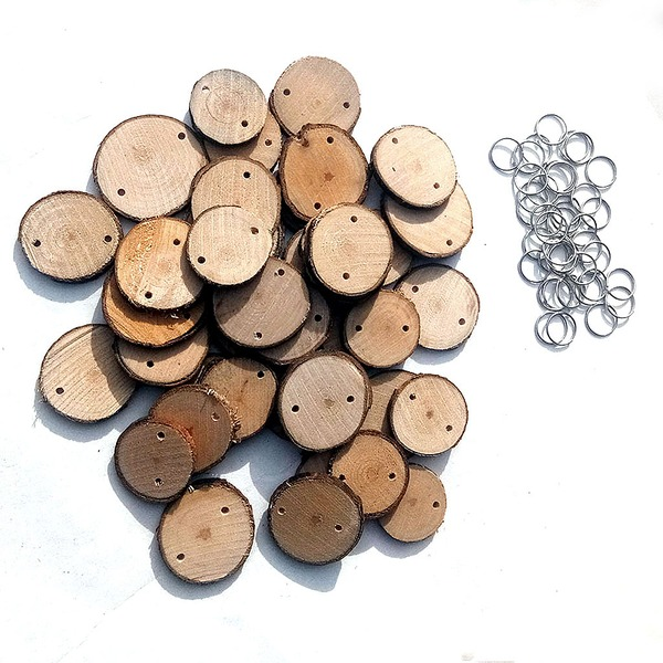 Simple Classic/Round Wooden Calendar DIY Home Decoration (40 Pieces)