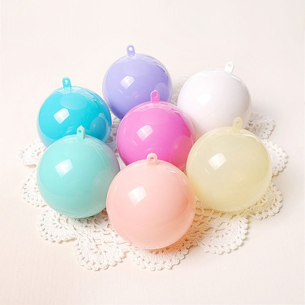 Creative/Classic/Round Ball Plastic Favor Boxes (Set of 12)