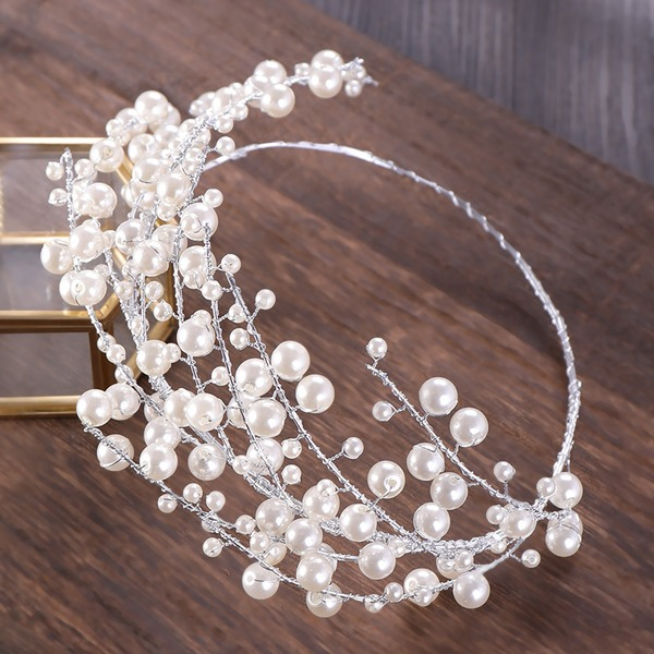 Ladies Exquisite Alloy/Imitation Pearls Tiaras With Venetian Pearl (Sold in single piece)