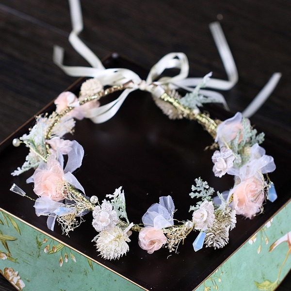 Ladies Pretty Silk Flower Headbands