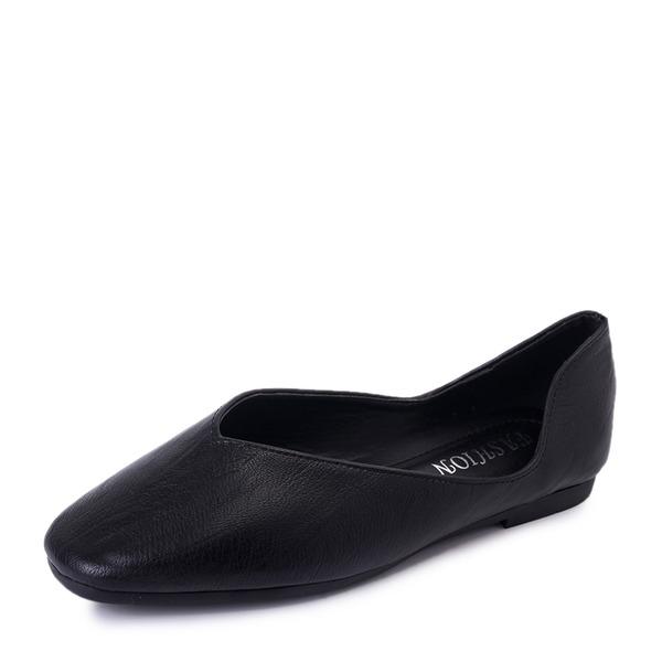 Vrouwen PU Flat Heel Flats Closed Toe met Anderen schoenen