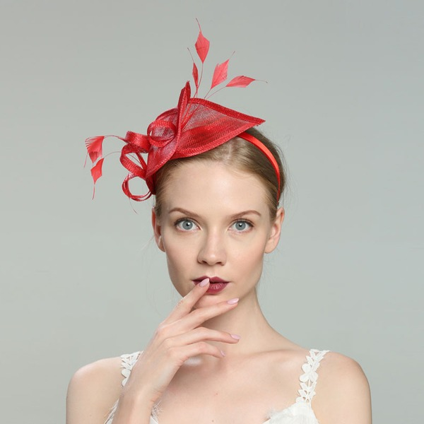 Glamourous/Elegant/Simple/Eye-catching/Fancy/Romantic/Artistic Cambric With Feather Fascinators