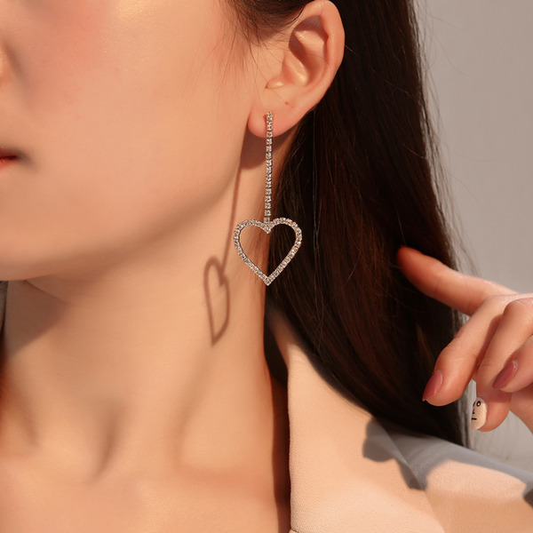 Nice Alloy With Rhinestone Women's Fashion Earrings