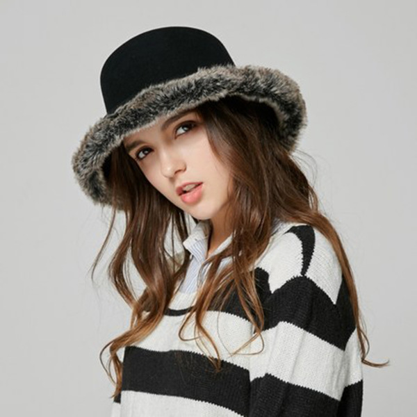 Ladies ' Glamourøse Uld Bucket Hat