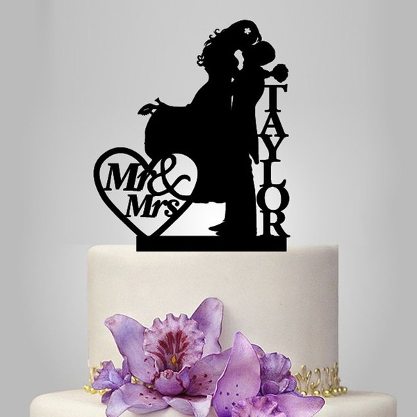 Happy Couple Acrylic Cake Topper