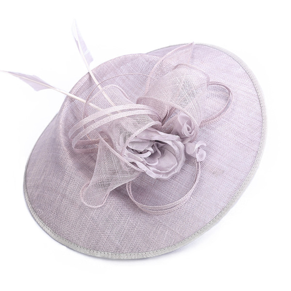 Dames Unique/Exquis/Accrocheur Batiste avec Feather Chapeaux de type fascinator/Kentucky Derby Des Chapeaux/Chapeaux Tea Party