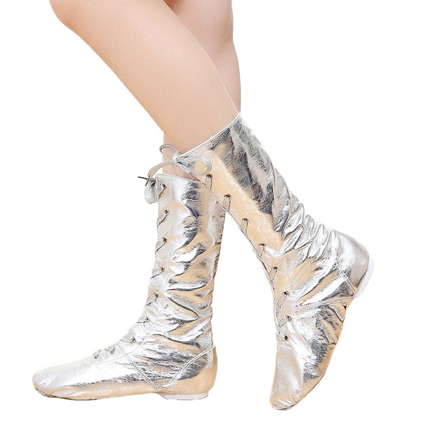 Unisexe Similicuir Chaussures plates Jazz Bottes de Danse Chaussures de danse
