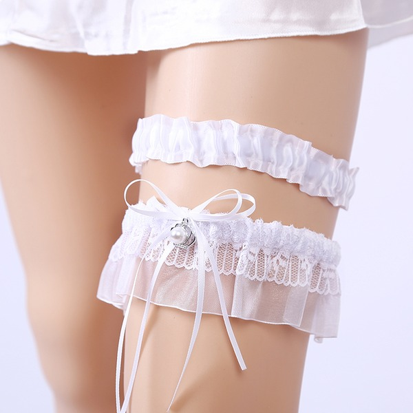 2-Piece/Elegant Satin With Rhinestone Wedding Garters