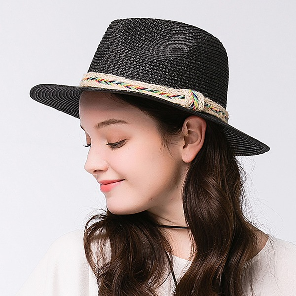 Ladies' Elegant Raffia Straw Straw Hat
