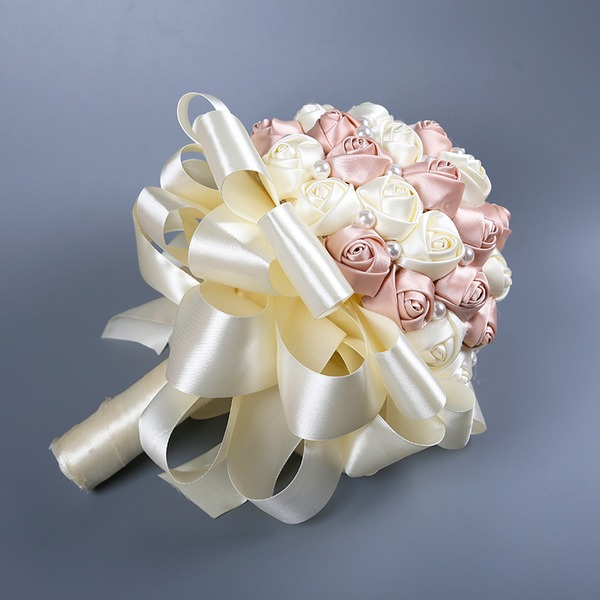 Hand-tied Imitation Pearl Bridal Bouquets/Bridesmaid Bouquets (Sold in a single piece) -