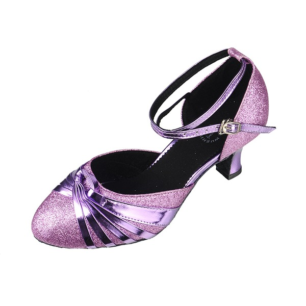 Women's Leatherette Heels Swing With Ankle Strap Dance Shoes