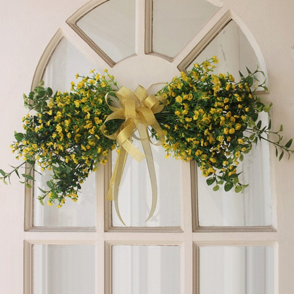 Vines flower garlands, stars, flowers, hanging doors decorated lintel mirror silk flowers, floral, wedding flower simulation pac
