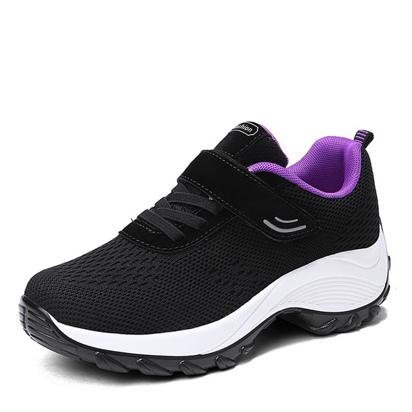 Women's Mesh With Lace-up Velcro Sneakers & Athletic