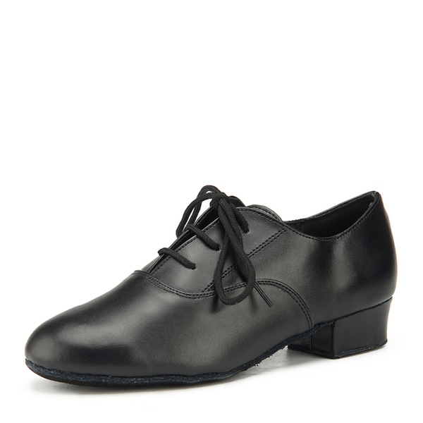 Kids' Real Leather Flats Latin Practice Dance Shoes