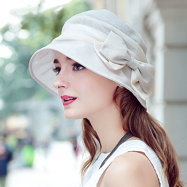 Classic/Elegant Polyester With Bowknot Bowler/Cloche Hat
