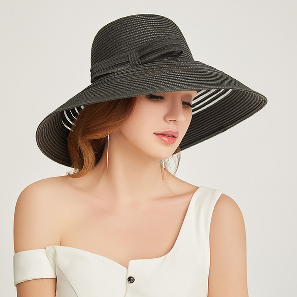 Ladies' Classic/Simple Papyrus With Bowknot Beach/Sun Hats/Kentucky Derby Hats/Tea Party Hats