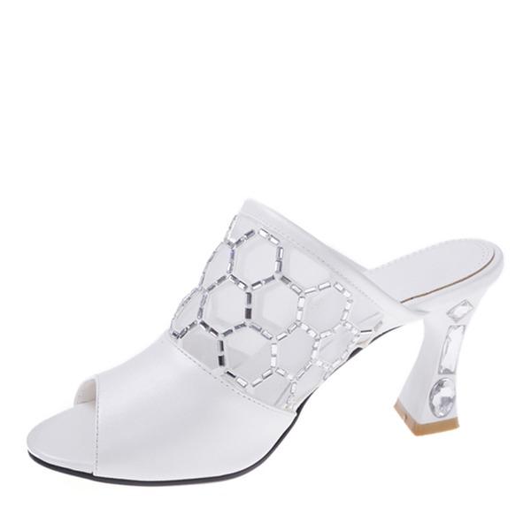 Vrouwen Kunstleer Mesh Stiletto Heel Sandalen Pumps Peep Toe Slingbacks met Strass schoenen