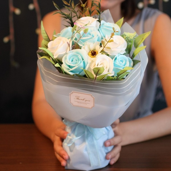 Round Soap Flower Bridal Bouquets/Flower Gifts - Bridal Bouquets