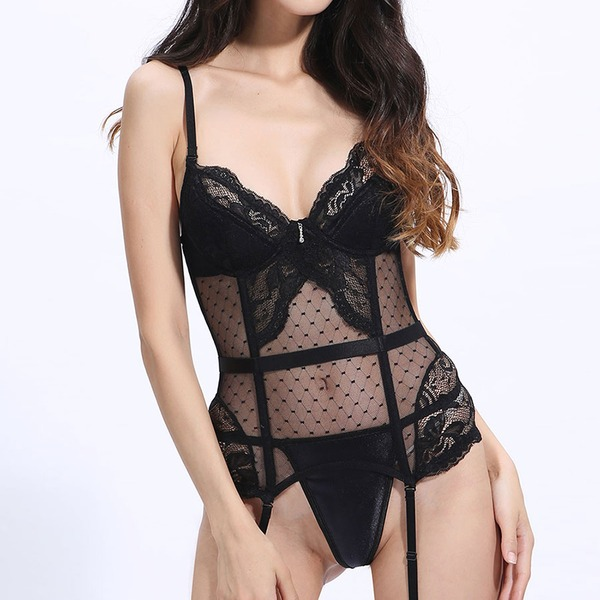 Lace/Nylon Adjustable Straps Shapewear