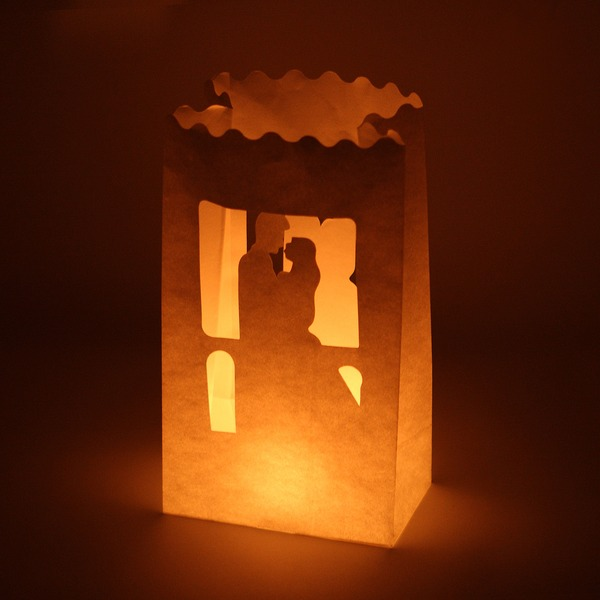Bride and Groom Paper Luminary (set of 4)