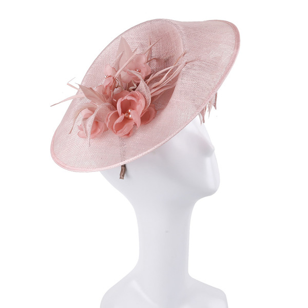 Signore Unico/Squisito/Occhi-cattura Cambrì con Piuma/Fiore Fascinators/Kentucky Derby Hats/Cappelli da Tea Party