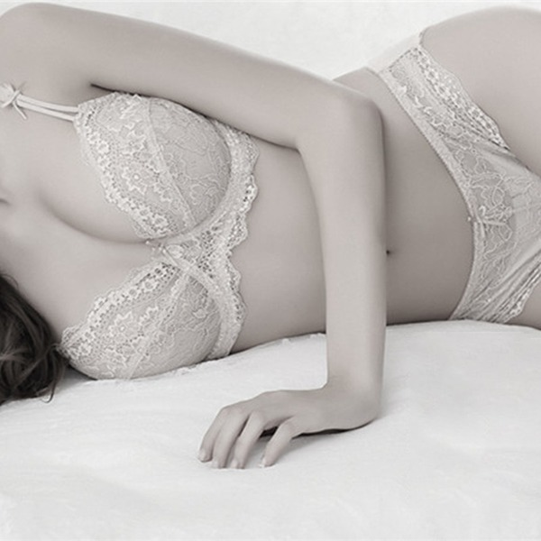 Lace/Cotton Sexy Bridal/Feminine Lingerie Set
