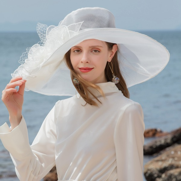 Ladies' Elegant Organza/Tulle Bowler/Cloche Hats/Kentucky Derby Hats