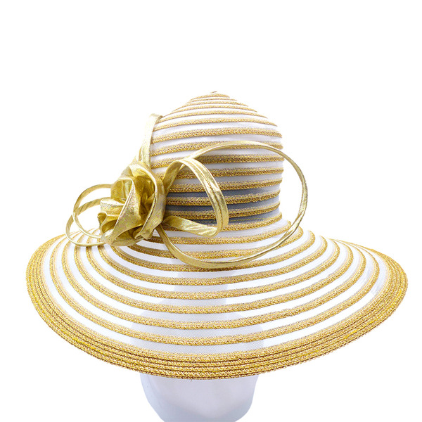 Ladies' Elegant/Eye-catching/Charming Pp With Silk Flower Kentucky Derby Hats/Tea Party Hats