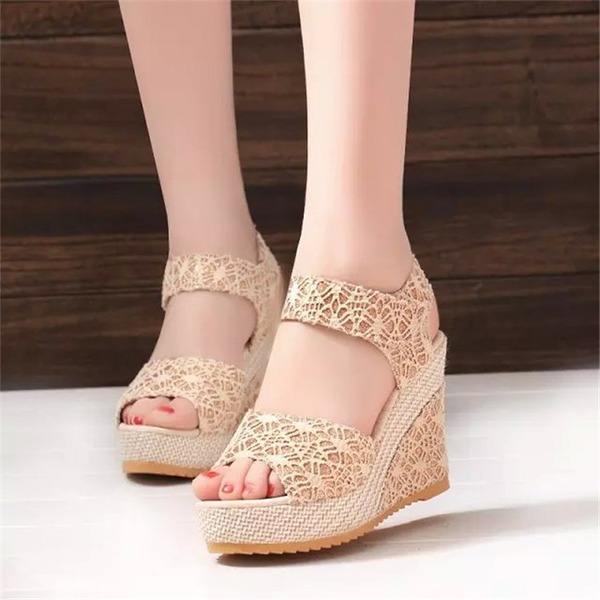 Women's Wedge Heel Sandals Wedges Peep Toe Slingbacks With Others shoes