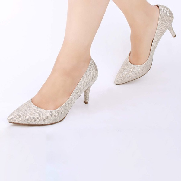 Women's Mesh Stiletto Heel Closed Toe Pumps With Others